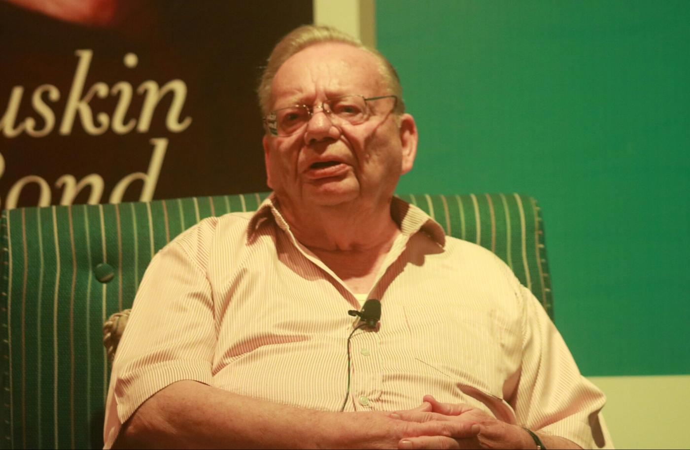 New Delhi: Author Ruskin Bond at the launch of his autobiography -