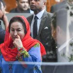PUTRAJAYA, June 5, 2018 (Xinhua) -- Rosmah Mansor (front), wife of former Malaysian Prime Minister Najib Razak, arrives at the headquarters of the Malaysian Anti-Corruption Commission (MACC) to be questioned by investigators in Putrajaya, Malaysia, June 5, 2018. (Xinhua/Chong Voon Chung/IANS) by .