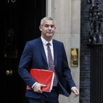 LONDON, Nov. 26, 2018 (Xinhua) -- British Secretary of State for Exiting the European Union (EU) Stephen Barclay leaves 10 Downing Street after a cabinet meeting in London, Britain, on Nov. 26, 2018. The British parliament's vote on Brexit deal is expected to be held on Dec. 11, British Prime Minister Theresa May confirmed on Monday. (Xinhua/Han Yan/IANS) by .