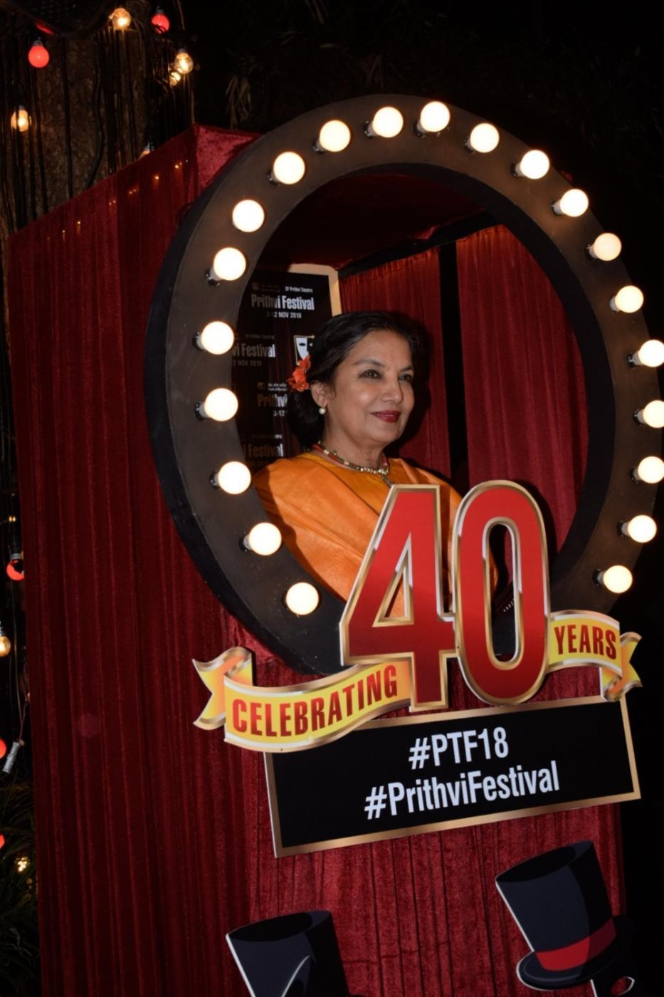 Mumbai: Actress Shabana Azmi at the 40th anniversary celebration of the Prithvi Theatre in Mumbai on Nov 5, 2018. (Photo: IANS) by .