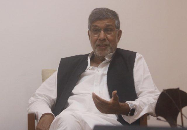 New Delhi: Nobel laureate Kailash Satyarthi during an interaction with IANS, in New Delhi, on July 23, 2018. (Photo: Bidesh Manna/IANS) by .