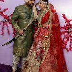 Jalandhar: Comedian Kapil Sharma and Ginni Chatrath at their wedding ceremony in Jalandhar on Dec. 12, 2018. (Photo: IANS) by .