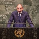 UNITED NATIONS, Sept. 26, 2018 (Xinhua) -- Nikol Pashinyan, prime minister of Armenia, delivers a speech during the General Debate of the 73rd session of the United Nations General Assembly, at the UN headquarters in New York, on Sept. 25, 2018. (Xinhua/Wang Ying/IANS) by .
