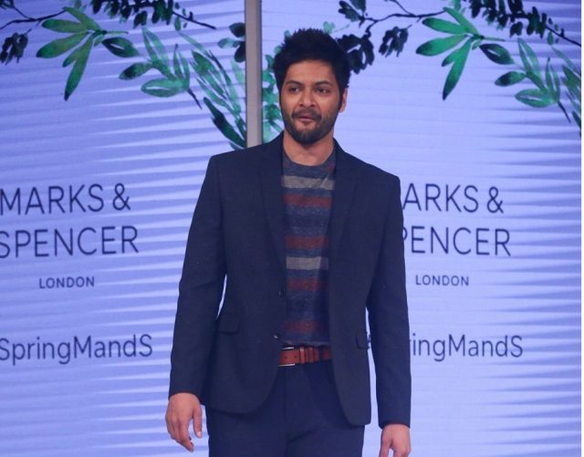Mumbai: Actor Ali Fazal walks the ramp for fashion brand Marks & Spencer Spring Summer launch 2018 in Mumbai on Feb 8, 2018. (Photo: IANS) by .