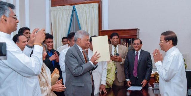 SRI LANKA-COLOMBO-PM-RE-INSTATEMENT by .