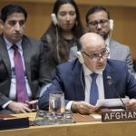 Afghanistan's Permanent Representative Mahmoud Saikal speaks at the United Nations Security Council meeting on the situation in Afghanistan on Monday, Dec. 17, 2018. (Photo: UN/IANS) by .