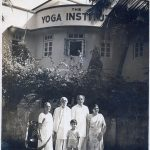 Founder of The Yoga Institute, Shri Yogendraji with family - Sitadevi Yogendra (Wife of Shri Yogendraji), Dr. Jayadeva Yogendra (Son of Shri Yogendraji), Smt. Hansaji Yogendra (Present Director) and Hrishi Yogendra (Grandson of Shri Yogendraji). by .
