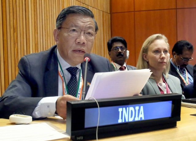 New York: Prem Das Rai, Member of the Parliament (Sikkim), at the Sixth Committee meeting on Agenda Item 86