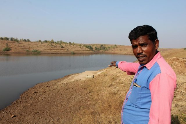 Basanta Vasunya shows the pond, ghat and a small tank especially to store live fishes for Bohra Muslim community which abstain from buying dead fishes. by .