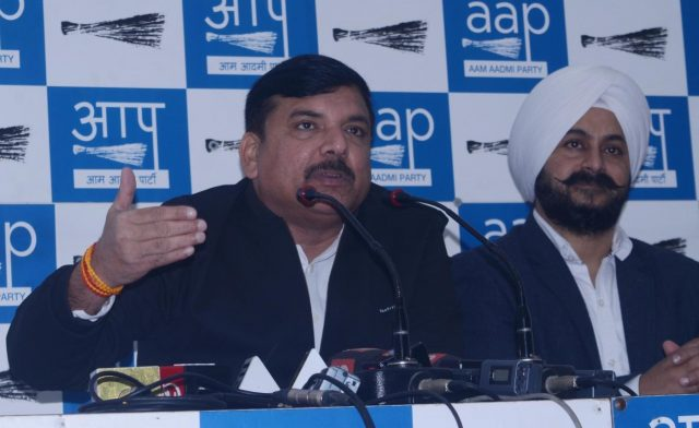 New Delhi: AAP leader Sanjay Singh address a press conference in New Delhi on Dec 14, 2018. (Photo: IANS) by .