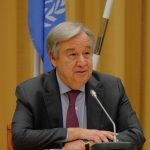 STOCKHOLM, Dec. 14, 2018 (Xinhua) -- UN Secretary-General Antonio Guterres attends a press conference in Stockholm, Sweden, on Dec. 13, 2018. The week-long Yemen peace talks concluded in Sweden on Thursday, during which, constructive progress was made for the upcoming talks. (Xinhua/Rob Schoenbaum/IANS) by .