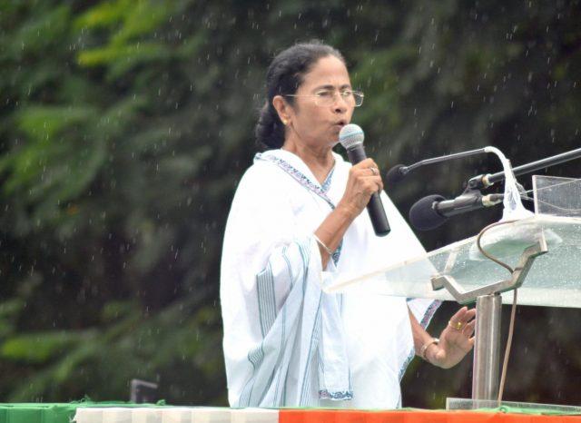 Kolkata: West Bengal Chief Minister and TMC supremo Mamata Banerjee addresses during Trinamul Congress Chhatra Parishad (TMCP) foundation day celebrations, in Kolkata, on Aug 28, 2018. (Photo: Kuntal Chakrabarty/IANS) by .