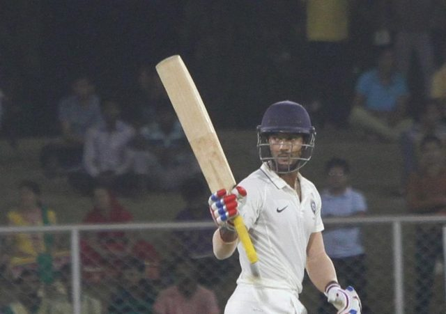 Greater Noida: India Blue Mayank Agarwal in action against India Red during the final match of Duleep Trophy at Greater Noida Sports Complex Ground in Greater Noida, Uttar Pradesh on Sept 13, 2016. (Photo: Surjeet Yadav/IANS) by .