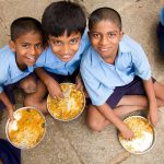 The Akshay Patra Foundation feeds 19 lakh students every school day. by .