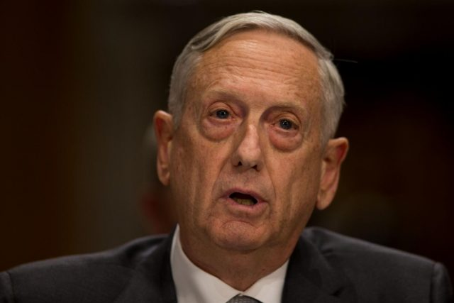 WASHINGTON, Oct. 31, 2017 (Xinhua) -- U.S. Defense Secretary Jim Mattis testifies to the Senate Foreign Relations Committee regarding authorizations for the Use of Military Force on Capitol hill in Washington D.C., the United States, on Oct. 30, 2017. (Xinhua/Ting Shen/IANS) by .