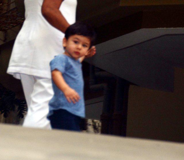 Mumbai: Taimur Ali Khan, son of actors Saif Ali Khan and Kareena Kapoor seen at Bandra in Mumbai on Nov 27, 2018. (Photo: IANS) by .