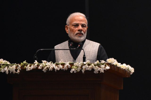 New Delhi: Prime Minister Narendra Modi addresses at the release of commemorative coins in the honour of Bharat Ratna Atal Bihari Vajpayee, in New Delhi on Dec 24, 2018. (Photo: IANS) by .