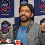 Jaipur: Actor Farhan Akhtar addresses a press conference regarding Imperial Blue Superhit Night concert, in Jaipur on Dec 17, 2017. (Photo: IANS) by .