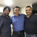 (Left to Right) - Jaspinder Kang, Partner, GoQuest Productions, writer Hussain Zaidi and Vivek Lath, MD, GoQuest Media Ventures. by .