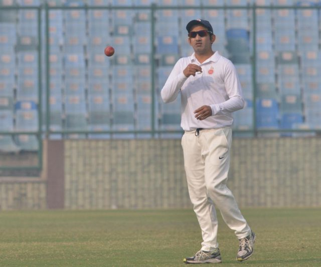 New Delhi: Indian cricketer Gautam Gambhir during a Ranji Trophy match between Delhi and Andhra, which is his last match after he announced his retirement from all forms of cricket on Tuesday; at Feroz Shah Kotla stadium in New Delhi, on Dec 6, 2018. (Photo: IANS) by .