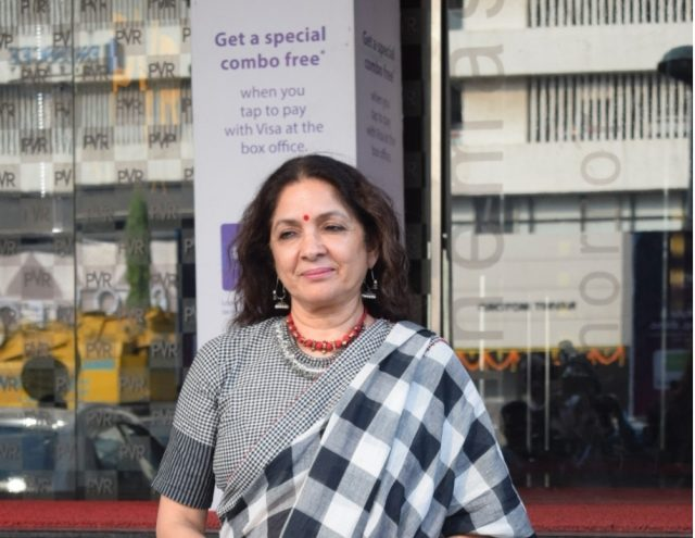 Mumbai: Actress Neena Gupta seen outside a Mumbai cinema hall on Oct 19, 2018. (Photo: IANS) by .