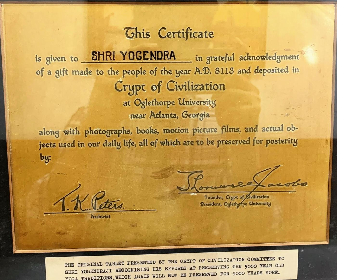 Original Certificate Picture from Oglethorpe University, Georgia, USA. by .
