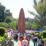 Amritsar: Visitors visit the Jaillanawala Bagh on the 99th anniversary of the Jallianwala Bagh massacre, in Amritsar on April 13, 2018. (Photo: IANS) by .