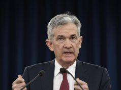 WASHINGTON, Dec. 19, 2018 (Xinhua) -- U.S. Federal Reserve Chairman Jerome Powell speaks during a press conference in Washington D.C., the United States, on Dec. 19, 2018. The U.S. Federal Reserve on Wednesday raised short-term interest rates by a quarter of a percentage point, but signaled a slower pace of rate hikes next year as the U.S. economy is expected to cool down. (Xinhua/Liu Jie/IANS) by .