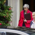 LONDON, Dec. 4, 2018 (Xinhua) -- British Prime Minister Theresa May (L) leaves 10 Downing Street in London, Britain, on Dec. 4, 2018. British MPs on Tuesday voted by 311 to 293 to find ministers in contempt of parliament over their failure to publish the full legal advice on the Brexit deal. (Xinhua/Stephen Chung/IANS) by .
