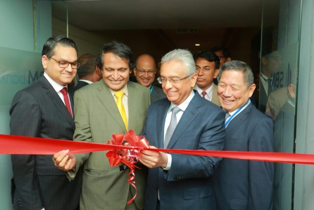 Mumbai: Mauritius Prime Minister P.K. Jugnauth and Union Commerce and Industry and Civil Aviation Minister Suresh Prabhu inaugurate the SBM Bank (India) Ltd in Mumbai, on Jan 25, 2019. SBM Bank (India) Ltd becomes the first foreign bank in India that was granted the Reserve Bank of India (RBI) licence to operate as a wholly owned subsidiary. (Photo: IANS) by .