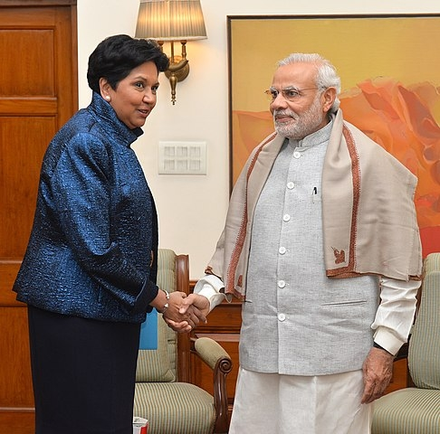Indra Nooyi met Prime Minister Narendra Modi in New Delhi in December, 2015, when she was the chairperson of PepsiCo. She is reported to be under consideration to head the Wordl Bank. (Photo:PM's Office/Wikimedia) by .