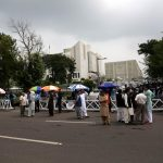 ISLAMABAD, July 28, 2017 (Xinhua) -- Pakistani people stand outside the Supreme Court waiting for its verdict over corruption charges against Prime Minister Nawaz Sharif, in Islamabad, capital of Pakistan, July 28, 2017. Pakistan's Supreme Court on Friday disqualified Prime Minister Nawaz Sharif over corruption charges. (Xinhua/Ahmad Kamal/IANS) by .