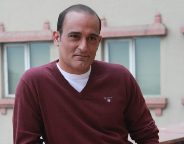 New Delhi: Actor Akshaye Khanna during a programme organsied to promote upcoming film