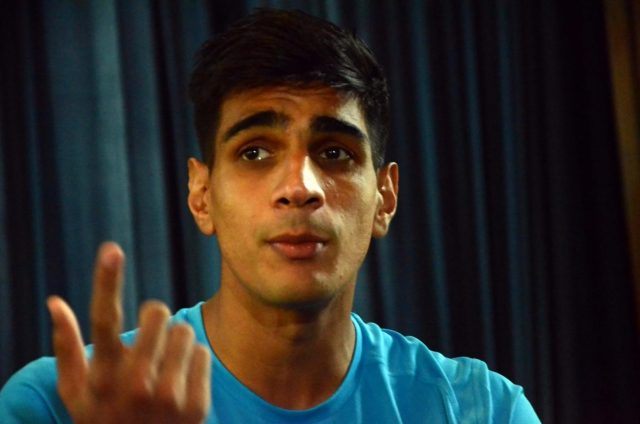 Mumbai: Indian footballer Gurpreet Singh Sandhu during an interactive session in Mumbai on May 30, 2018. (Photo: IANS) by .
