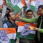 Amritsar: Congress workers celebrate as the party appeared to be on the road to victory in BJP-ruled Chhattisgarh and possibly Rajasthan and was locked in a close fight in Madhya Pradesh, in Amritsar on Dec 11, 2018. (Photo: IANS) by .