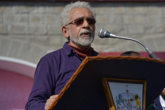 Ajmer: Actor Naseeruddin Shah speaks at his alma mater St. Anselm's Senior Secondary School in Ajmer on Dec 21, 2018. (Photo: Shaukat Ahmed/IANS) by .