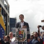 "Juan Guaido (C), head of the opposition-controlled National Assembly, delivers a speech at the Francisco de Miranda avenue, in Caracas, Venezuela, on Jan. 23, 2019. Venezuelan President Nicolas Maduro on Wednesday announced he was severing ""diplomatic and political"" ties with the United States after the U.S. authorities recognized the opposition leader Juan Guaido as the nation's interim president. (Xinhua/Boris Vergara/IANS) by ."