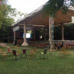 Jaipur: Preparations for Jaipur Literature Festival underway in Jaipur on Jan 22, 2019. (Photo: IANS) by .