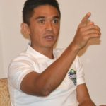 Bengaluru: Indian football captain Sunil Chhetri addresses a press conference, in Bengaluru on June 13, 2018 – (Photo: IANS) by .