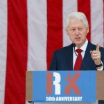 WASHINGTON, June 6, 2018 (Xinhua) -- Former U.S. President Bill Clinton speaks during a public memorial for Robert F. Kennedy at the 50th anniversary of his assassination at Arlington National Cemetery in Arlington, Virginia, the United States, on June 6, 2018. (Xinhua/Ting Shen/IANS) by .