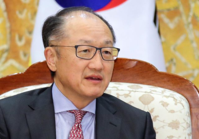 Seoul: This file photo dated May 25, 2018, shows Jim Yong Kim, president of the World Bank, visiting the presidential office Cheong Wa Dae in Seoul. Kim said on Jan. 7, 2019, that he will be stepping down effective Feb. 1, with more than three years left in his current term at the Washington-based multilateral lending agency.(Yonhap/IANS) by .