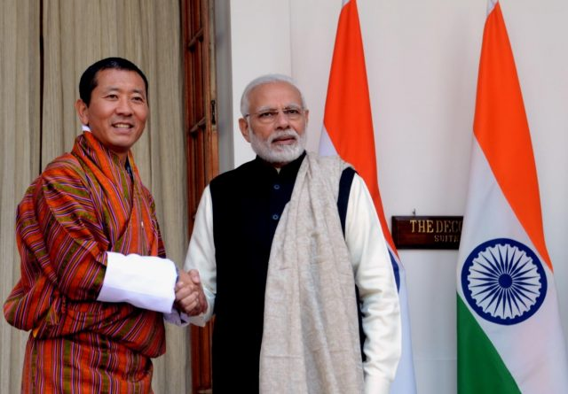 New Delhi: Prime Minister Narendra Modi meets Bhutan Prime Minister Dr. Lotay Tshering, at Hyderabad House, in New Delhi on Dec 28, 2018. (Photo: IANS) by .