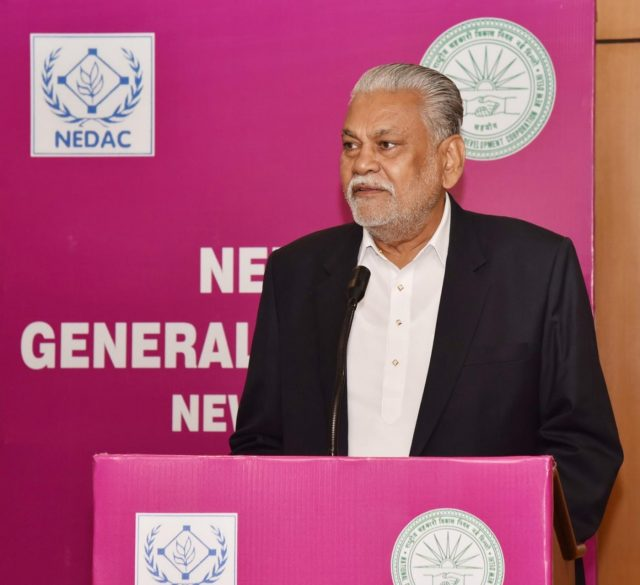New Delhi: Union MoS Agriculture and Farmers Welfare and Panchayati Raj Parshottam Rupala addresses at the inaugural session of the Network for Development of Agricultural Cooperatives (NEDAC) General Assembly, in New Delhi, on Nov 15, 2018. (Photo: IANS/PIB) by .