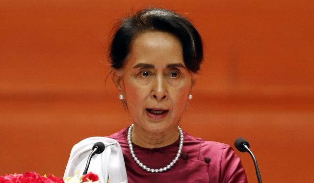 Myanmar State Counselor Aung San Suu Kyi. (File Photo: IANS) by .