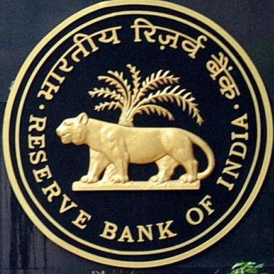Reserve Bank of India (RBI) logo. by .