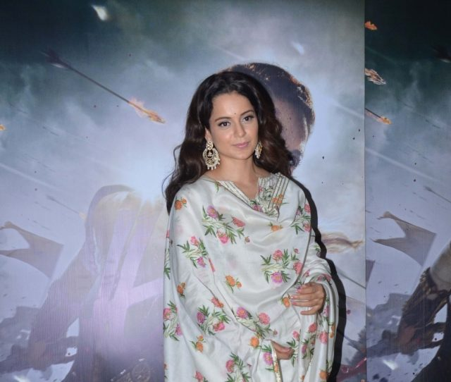 Mumbai: Actress Kangana Ranaut at the special screening of film