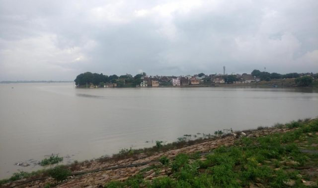 Allahabad: A view of swollen Ganga river in Allahabad on Sept 4, 2018. (Photo: IANS) by .