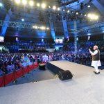 New Delhi: Prime Minister Narendra Modi addresses at ''Pariksha Pe Charcha 2.0'' programme in New Delhi, on Jan 29, 2019. (Photo: IANS/PIB) by .