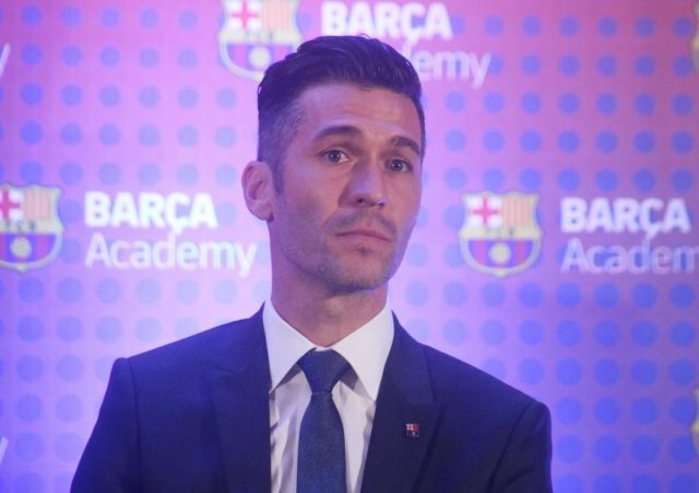New Delhi: Barca Ambassador and Former FC Barcelona footballer Luis Garcia addresses during a press conference where the 2019 Asia-Pacific Soccer Cup trophy was unveiled, in New Delhi on Jan 24, 2019. (Photo: IANS) by .