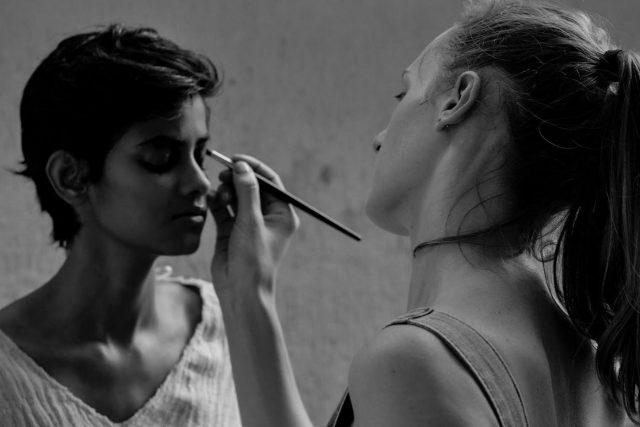 British make-up artist Clover Wootton. by .